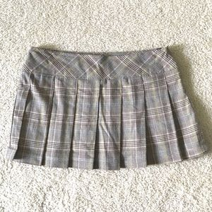 Forever 21 Plaid Skirt - Tan w/ Pink, Yellow, Blue